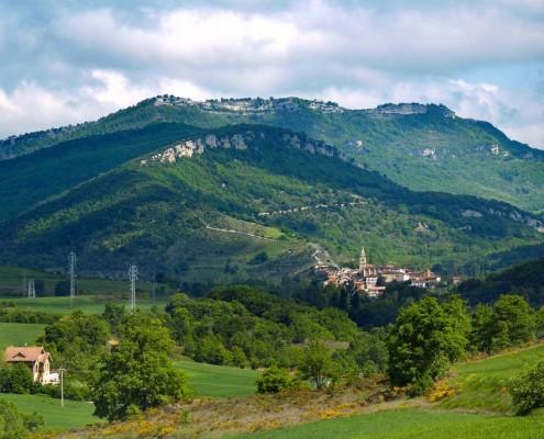 Vista panorámica de Antoñana / Antoñanako panoramika