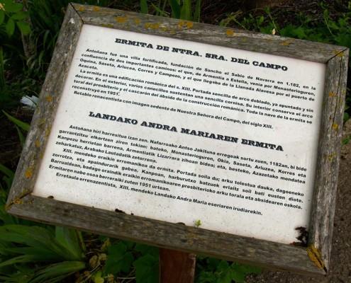 Ermita de Ntra. Sra. del Campo / Landako Andra Mariaren ermita (Antoñana)