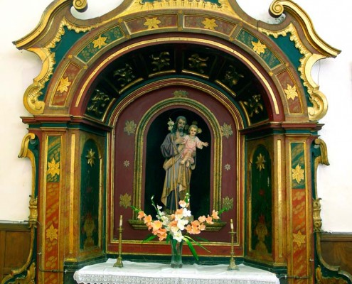 Altar de San José de la iglesia de San Vicente Mártir de Antoñana / Antoñanako San Vicente Mártir Elizako San José Aldarea
