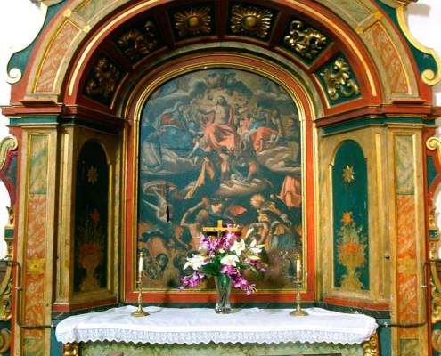 Altar de las Ánimas de la iglesia de San Vicente Mártir de Antoñana / Antoñanako San Vicente Mártir Elizako Arimen Aldarea
