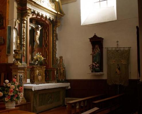 Altar del Santo Cristo de la iglesia de San Vicente Mártir de Antoñana / Antoñanako San Vicente Mártir Elizako Kristo Santuaren Aldarea