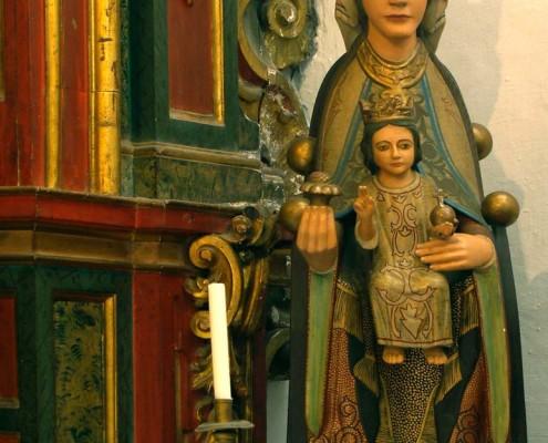 Imagen de la Virgen de Estíbaliz de la iglesia de San Viceente Mártir de Antoñana / Antoñanako San Vicente Mártir Elizako Estibalizko Andre Mariaren irudi
