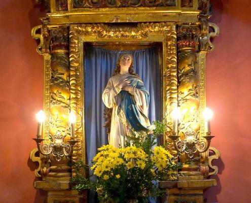 Altar de la Purísima Concepción de la iglesia de la Asunción de Bujanda / Bujandako Andre Mariaren Jasokundea Elizaren Sortzez Garbiaren aldarea