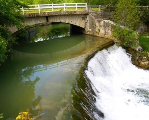 Río Izki en el área de Fresnedo / Izki ibaia Fresnedo eremuan (Santa Cruz de Campezo / Santikurutze Kanpezu)
