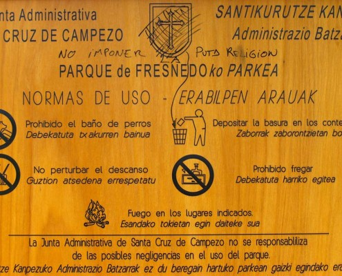 Normas de uso de Fresnedo / Fresnedo erabiltzeko arauak (Santa Cruz de Campezo / Santikurutze Kanpezu)