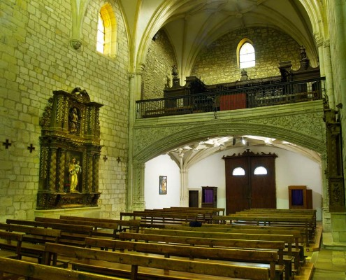 Coro y retablo lateral de la iglesia de la Asunción de Nuestra Señora de Santa Cruz de Campezo / Santikurutze Kanpezuko Andre Mariaren Jasokundea Elizaren koroa eta alboko erretaulak