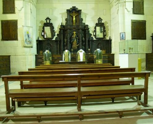 Interior de la sacristía de la iglesia de la Asunción de Nuestra Señora de Santa Cruz de Campezo / Santikurutze Kanpezuko Andre