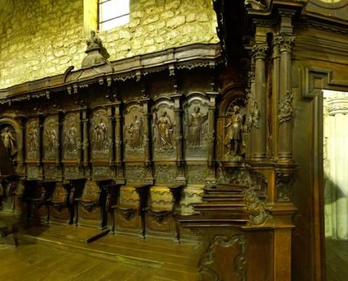Coro de la iglesia de la Asunción de Nuestra Señora de Santa Cruz de Campezo / Santikurutze Kanpezuko Andre Mariaren Jasokundea Elizaren korua
