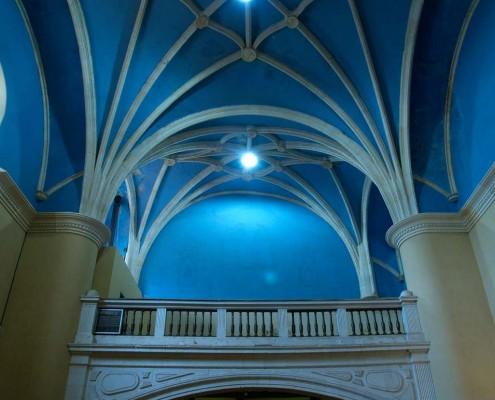 Coro y bóveda de la iglesia de San Andrés de Orbiso / Orbisoko San Andrés Elizako korua eta ganga