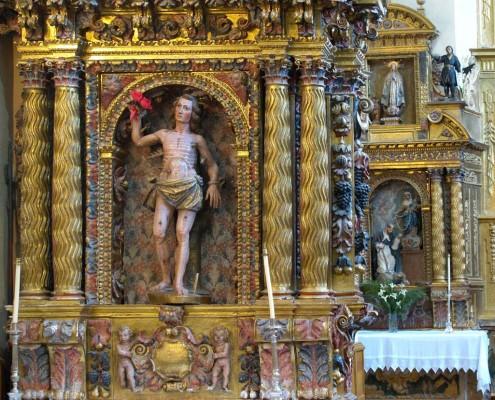 Retablos laterales de la iglesia de San Andrés de Orbiso / Orbisoko San Andrés Elizako alboko erretaulak